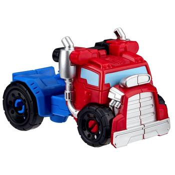 "Optimus Prime to Hot Rod Truck Rescue Bots Academy Playskool Transformer 4.5"""