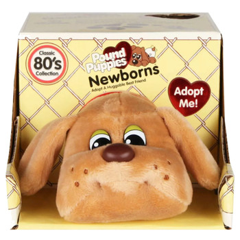 """Pound Puppies Beige with Short Ears 7"""""""