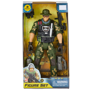 """Jungle Camo Military Ranger Soldier Force Action Figure 12"""""""