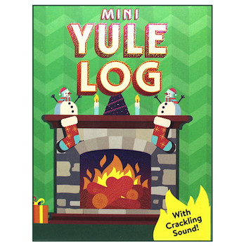 Mini Yule Log with Crackling Sound Running Press Miniature Editions