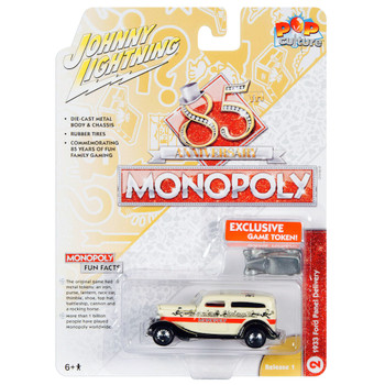 Johnny Lightning Monopoly 1933 Ford Panel Delivery with Game Piece Diecast 1/64