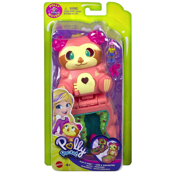 Polly Pocket Flip & Find Sloth Tiny Paw Prints Adventures Compact