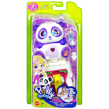 Polly Pocket Flip & Find Panda Tiny Paw Prints Adventures Compact