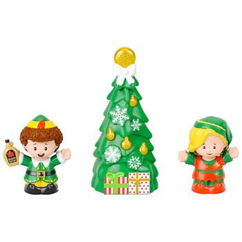 "Elf Buddy & Jody Around Christmas Tree Little People Collector Figures 2.5"""