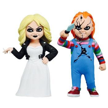 """Chucky & Tiffany Bride of Chucky Toony Terrors Action Figures 4"""""""