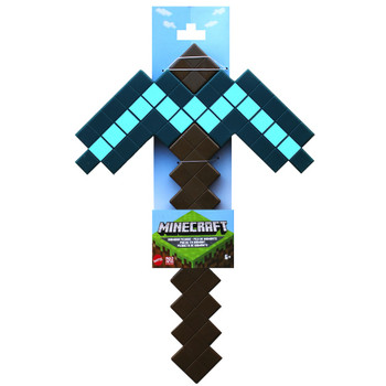 """Minecraft Diamond Pickaxe Large Scale Toy 14"""""""