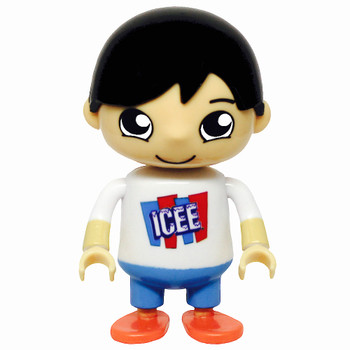 """Icee Shirt Ryan Blind Bag Pizza Party Figure 3"""" (Factory Sealed)"""