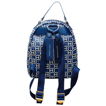 """Tommy Hilfiger Mini Backpack White & Blue Monogram 9"""" wide by 11"""" Tall"""