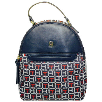 """Tommy Hilfiger Mini Backpack White & Red Monogram 9"""" wide by 11"""" Tall"""