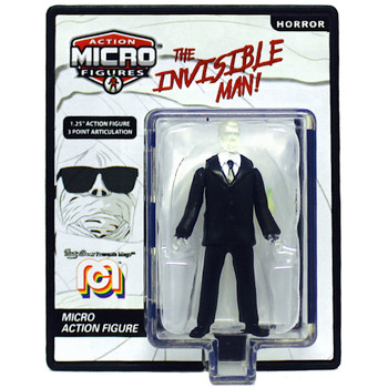 """World's Smallest Invisible Man Mego Horror Micro Figure 1.25"""" (New Loose)"""