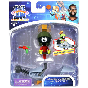 """Marvin the Martian with Space Ship Space Jam 2 Action Figure 3"""""""