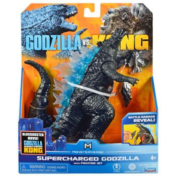 """Supercharged Godzilla with Fighter Jet Godzilla vs Kong Battle Damaged Figure 6"""""""