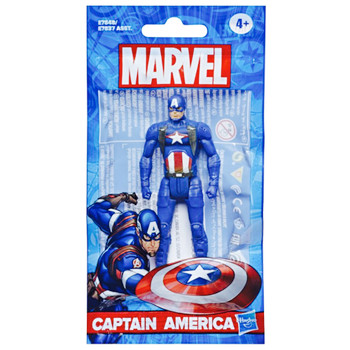 """Captain America Marvel Articulated Action Figure 4"""" Bagged"""