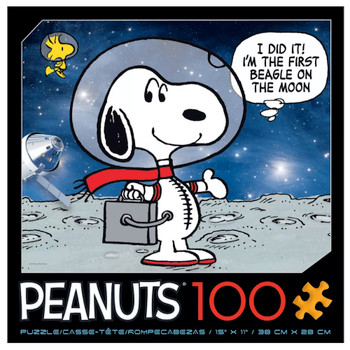 Peanuts Astronaut Snoopy First Beagle on the Moon Puzzle 100 Piece