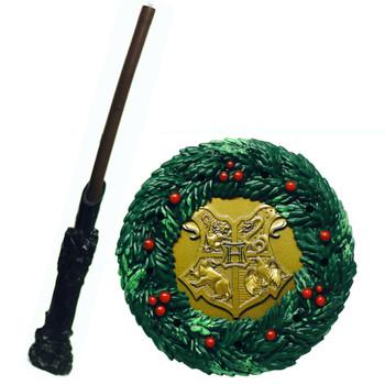 "Harry Potter Hogwarts Castle Christmas Wreath Running Press Miniature Kit 3"""