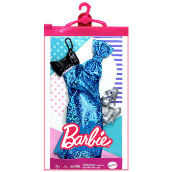 Sparkly Blue Evening Gown Barbie Clothing Set