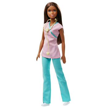 """Nurse African American Barbie You Can Be Anything Doll 10.5"""""""