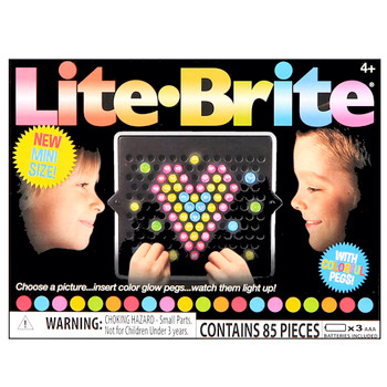 """Lite Brite with Colorful Pegs Pocket Size 3"""""""