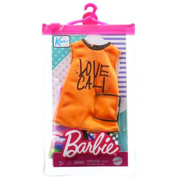 Barbie Love Cali Orange Tank with Shorts Ken Clothing Set
