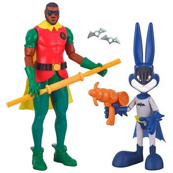 "Ultimate Lebron James (Robin) & Bugs Bunny (Batman) Space Jam 2 Action Figure 12"""
