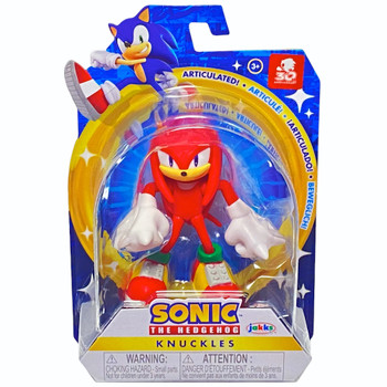 """Knuckles Sonic the Hedgehog Articulated Action Figure 2.5"""" 30th Anniversary"""