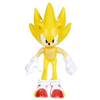 """Super Sonic the Hedgehog Articulated Action Figure 2.5"""" 30th Anniversary"""