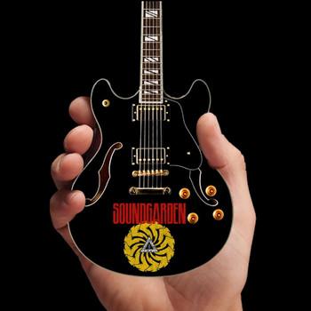 Soundgarden Signature Chris Cornell Black Hollow Body Mini Guitar  Replica
