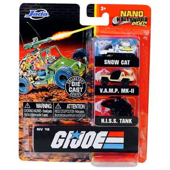 GI Joe Nano Hollywood Rides 3 Pack