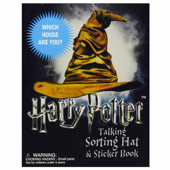 Talking Sorting Hat and Sticker Book Harry Potter Desktop Miniature Editions