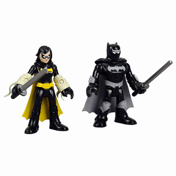 Black Bat & Ninja Batman Streets of Gotham Imaginext Figures 2.5""