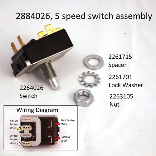 Minn Kota Foot Control 5 Speed Foot Pedal Switch Part #2884026