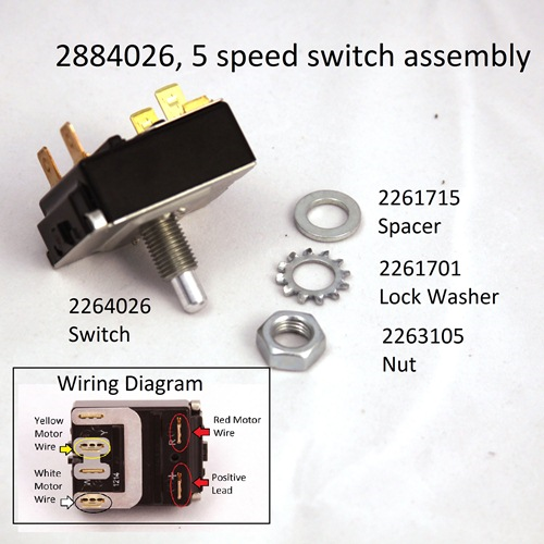 5 Speed Foot Pedal Switch Part #2884026