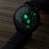 Xeric Trappist-1 Moonphase Gunmetal Red (TMP-3014) lume glow