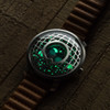 Xeric Trappist-1 Moonphase Silver Blue (TMP-3021) lume glow
