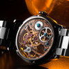 Thomas Earnshaw Bauer Hand Wind Skeleton Silver Rose Gold (ES-8049-33)