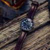 Jack Mason Field Sub Second Navy Brown (JM-F401-002) still life