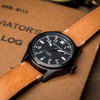 Jack Mason Aviation Black Tan (JM-A101-005) flat