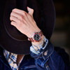 Jack Mason Diver Red Brown (JM-D101-018) wrist