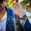 Jack Mason Diver Red Brown (JM-D101-018) wrist stick