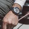 Jack Mason Yacht Timer Rubber Navy Red (JM-N105-002) wrist