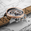 AVI-8 Hawker Harrier II Matador Chronograph Silver Brown (AV-4065-02) layflat