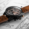 AVI-8 Hawker Harrier II Matador Chronograph Black Brown (AV-4065-03) layflat