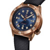 Zelos Great White Swiss Automatic 1000M Bronze Cobalt Blue (GW-BR-BL) full