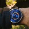 Xeric Cypher Automatic Tritium Blue Orange Limited Edition (CYP-2277-06L) wrist