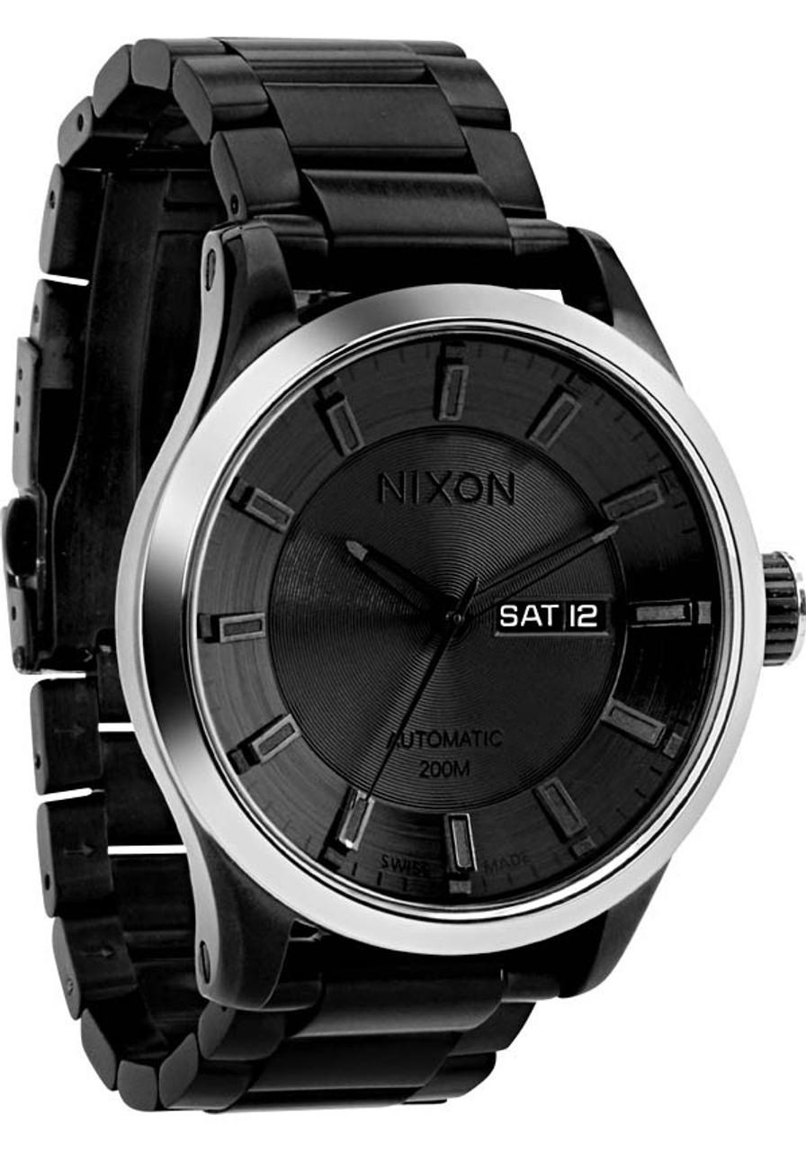 5cbca52ed Nixon Automatic II -All Black | Watches.com