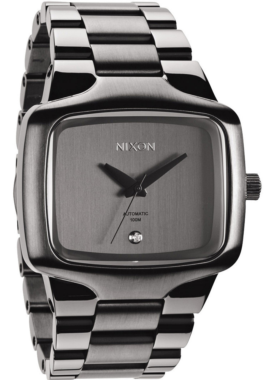 01f6a6ee2ab Nixon player swiss automatic elite gunmetal jpg 745x1064 Nixon watches  gunmetal