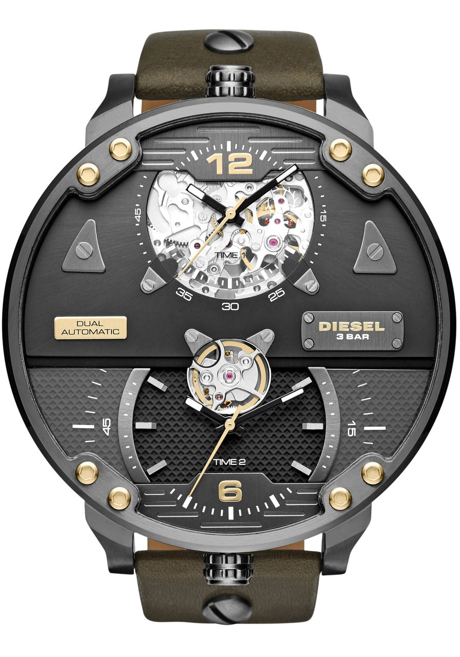 Diesel DZ7365 Double Automatic Leather Limited Edition  6b869937444