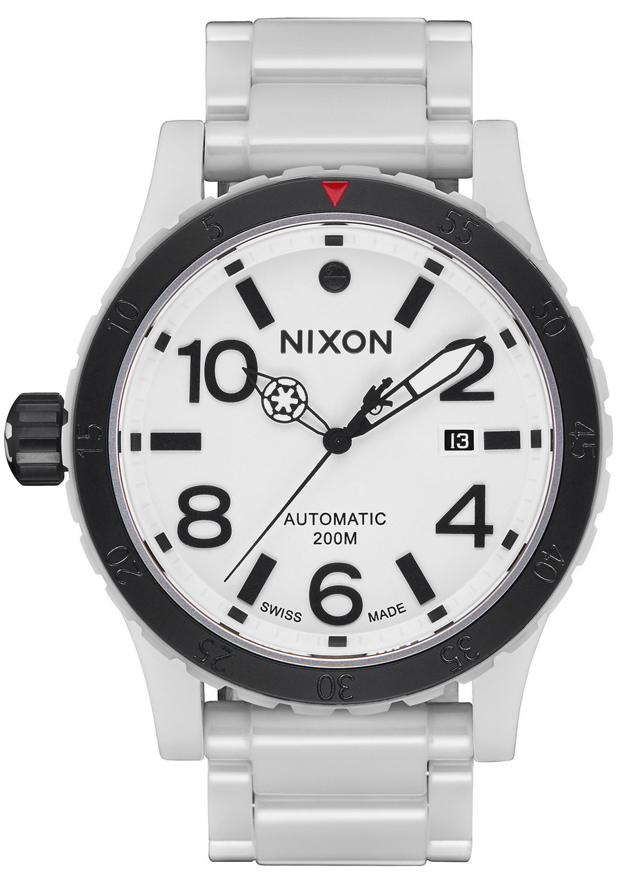 328eb2e3192 Nixon diplomatic star wars stormtrooper ceramic white a jpg 896x1280 Old  nixon watches