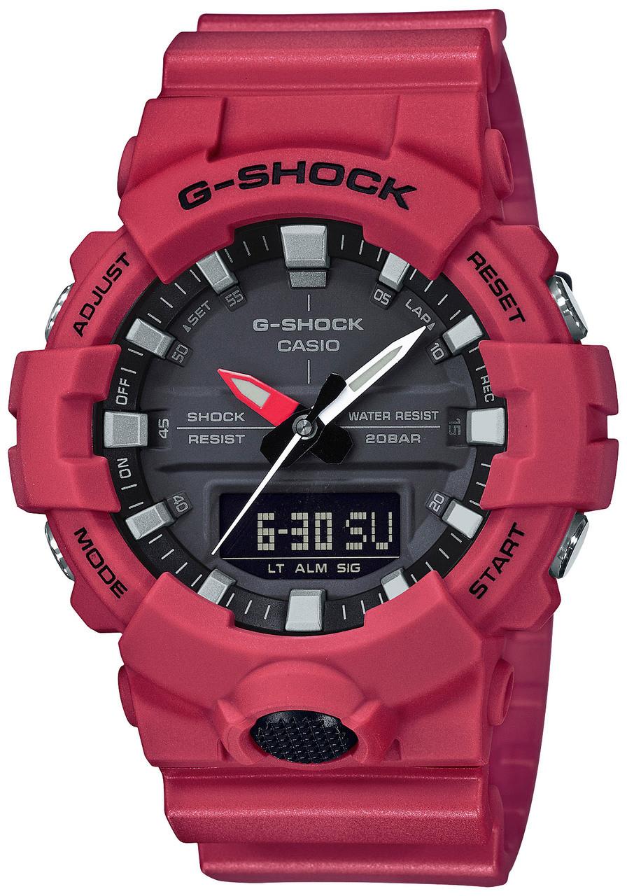 037d6f6d8665 G-Shock Midsize Analog-Digital Red GA800-4A (GA800-4A)