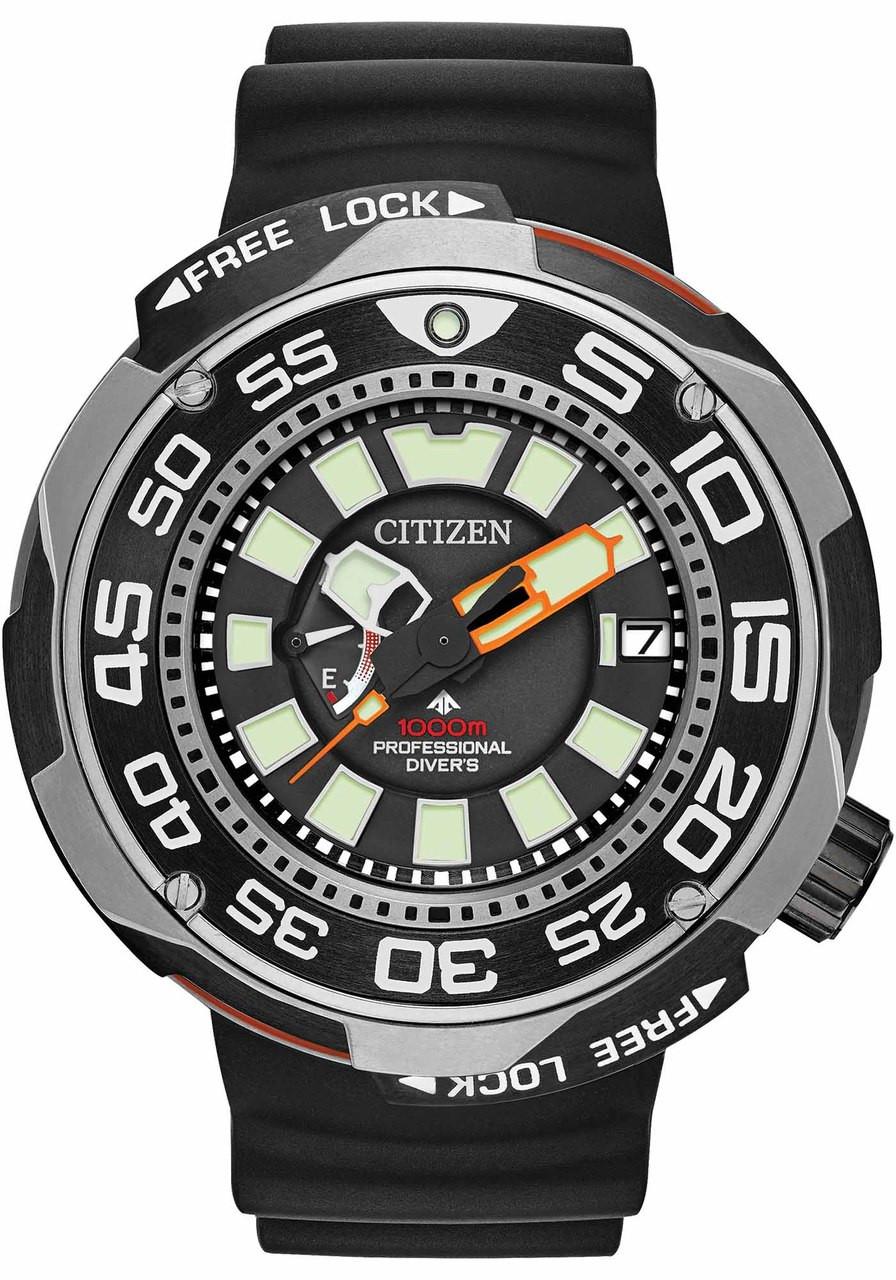 Citizen Eco-Drive Promaster 1000m Professional Diver Sport Silver Black